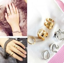 3Pcs/Set Hot Cute Fashion Gold Silver Plated Top Of Finger Over The Midi Tip Finger Above The Knuckle Open Ring For women
