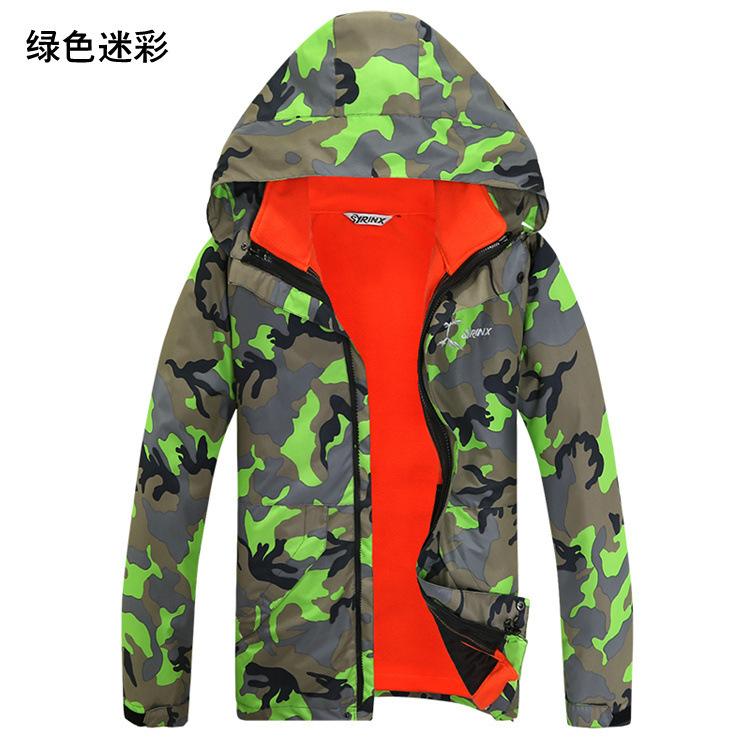 Фотография 2016 Outdoor Winter military Camouflage Snowboard Jacket Unisex Mens Womens Sports Coat Windbreaker Waterproof Wind Ski Suit