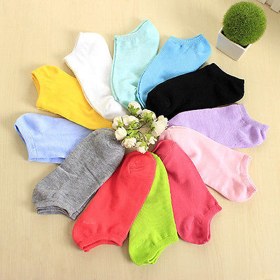 1 Pair of Women Socks Girl Female Lady Short Cotton Socks Candy Color Ankle Boat Low Cut Sport Socks Calcetines Mujer(China (Mainland))