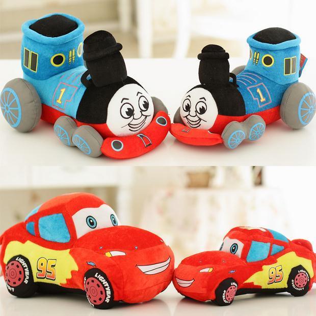 Disney Cars McQueen plush toy doll 25-35cm pillow Thomas locomotive children's birthday gift(China (Mainland))