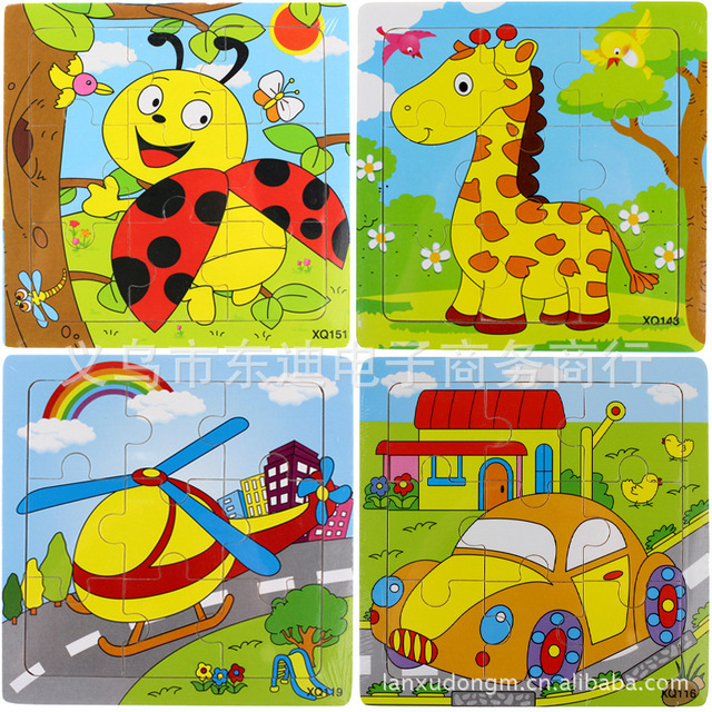 9 Parts Wholesale Wooden Jigsaw Puzzle for Children Small Toys Science and Education Toys Children Puzzle Preschool Puzzle