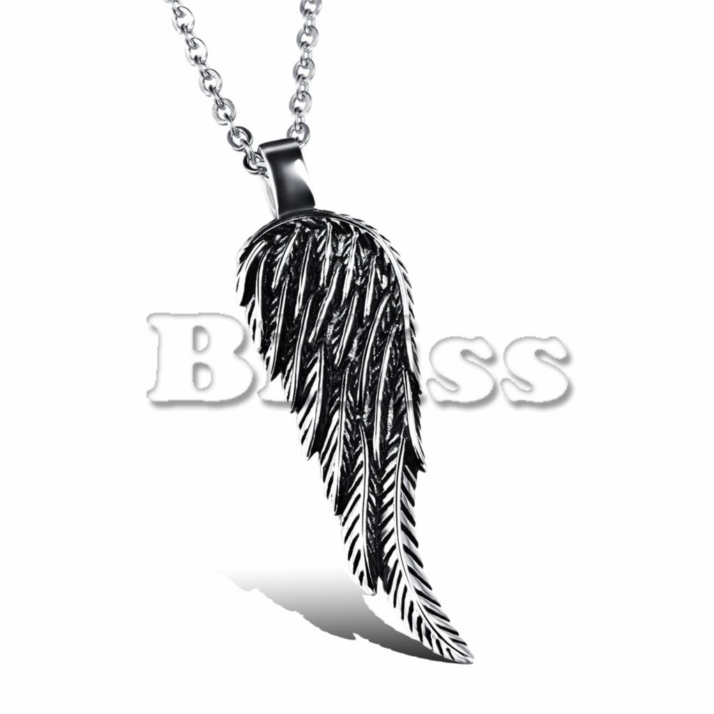 New Arrival Trendy Unique Mens Stainless Steel Angel Wing Pendant Fashion Men necklace Boy Gifts hombre collares(China (Mainland))