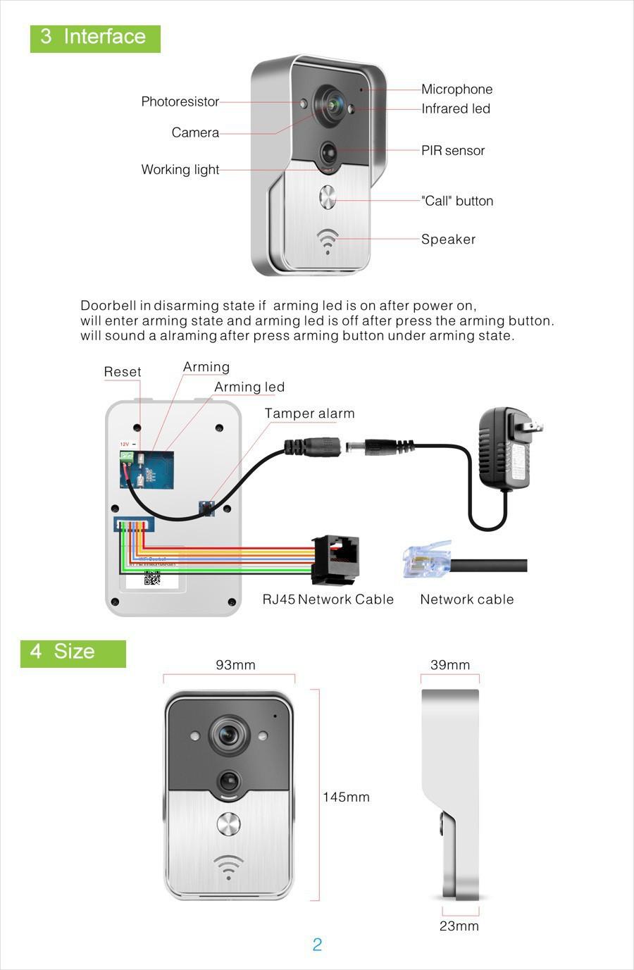New Wifi Video Door Phone Doorbell Wireless Intercom