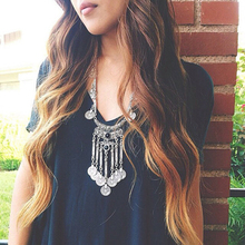 Gros Collier Femme 2016 Gypsy Ethnic Turkish Jewelry Choker  Bohemian Vintage Tassel Coin Long Necklace Sweater Chain Collier(China (Mainland))