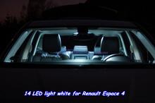14 pcs x LED Canbus Xenon white 5500-6000k Car Interior light LED kit for Renault Espace 4 Light Source 5040 SMD Chip(China (Mainland))