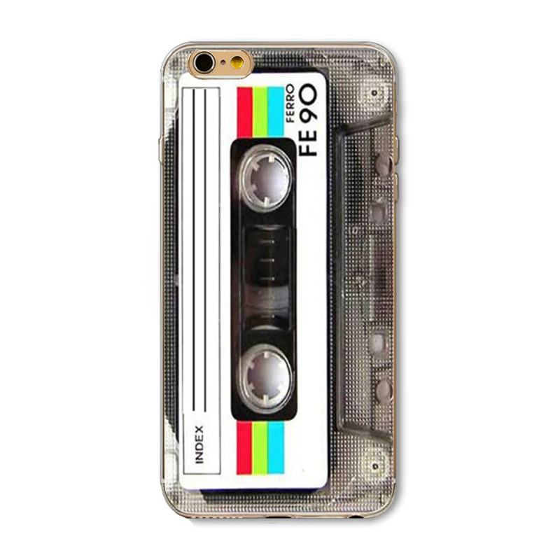 For iPhone 5 5s SE 6 6S 6Plus 6s Plus Case TPU Nostalgic Silicon Calculator Camera Radio Old 3310 Mobile Phone Painted Cover Bag