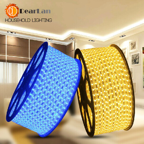 5M/Piece,220V-240V Quality Waterproof Flexible LED Strip(SMD 5050) With Only One Qualitied Euro Plug,Best Decor For Living Room(China (Mainland))