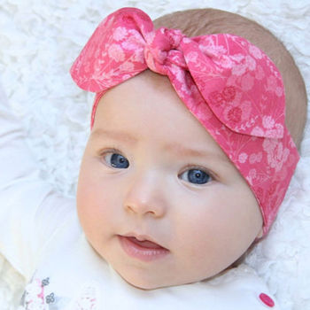 2 Pc/Set Mama Baby Toddler Print Floral Flower Bowknot Hairband Headband Rabbit Ears Elastic Headdress Hair Band Accessories