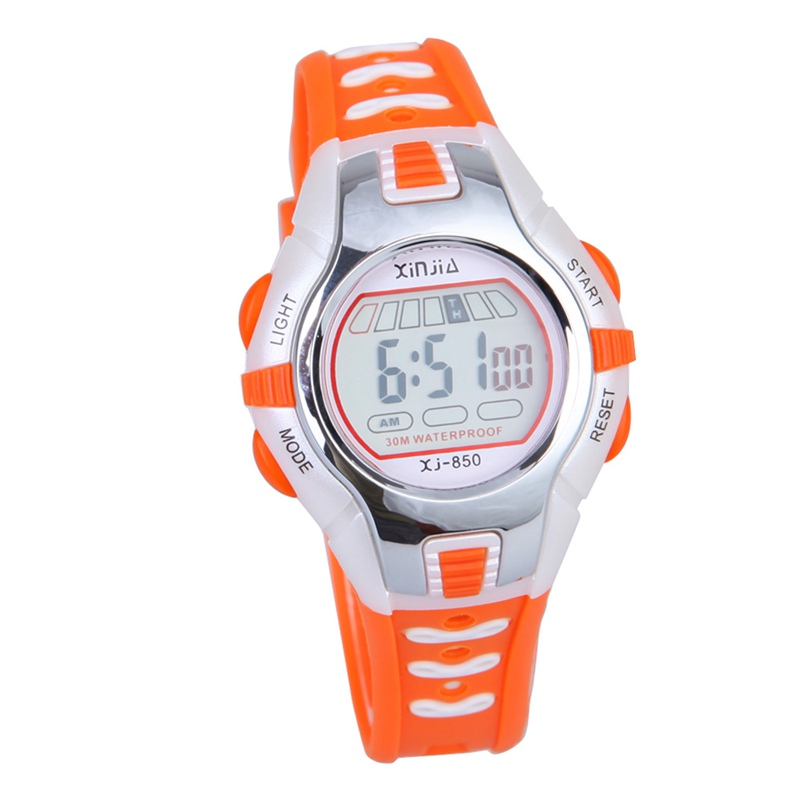 5 Colors Waterproof Children Boy Digital LED Watch Kids Swimming Sports Wrist Watch Boys Girls Clock Child Gift(China (Mainland))