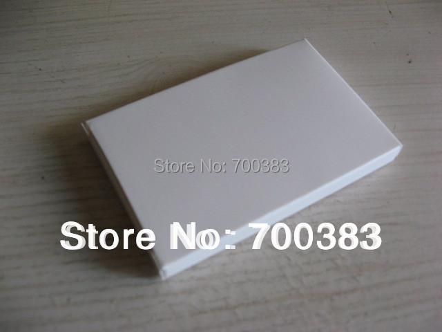 50 PCS White Paper Gift Box White Box Size 3.43 x 2.21 x 0.36 inch 87x56x9MM Electronic Product Packaging The White Card USB Box(China (Mainland))