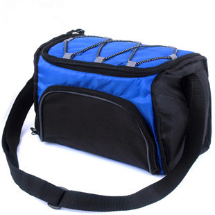 mini easy carry cooler bag 6L food fresh storage ice bag bottle/can organizer 24x15x15cm thick fabric outside(China (Mainland))