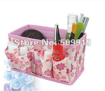 FREE SHIPPING HOT SALE Non-woven fabrics Storage Boxes home storage for cosmetics,jewelry (10pcs/set)mix color
