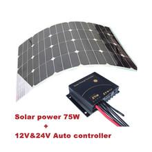 hotsale font b solar b font system 75w with 75w sunpower flexible font b solar b