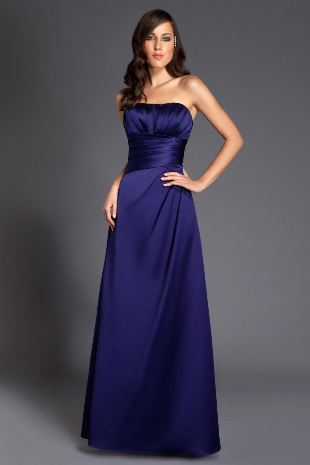 Cheap navy blue bridesmaid dresses cocktail dresses 2016 for Navy blue dresses for wedding