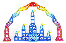 Children Toy Bricks 47pcs 78pcs Magnetic Building Toys 3D Magformers Diy Building Block Gift Toys(China (Mainland))