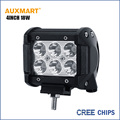 Auxmart Cree Chips 4Inch 18W spot beam LED work Light Bar Offroad Tractor Truck 4x4 SUV