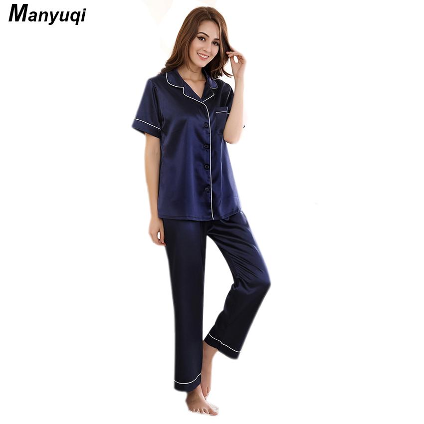 Popular Woman Silk Pajamas-Buy Cheap Woman Silk Pajamas lots from ...