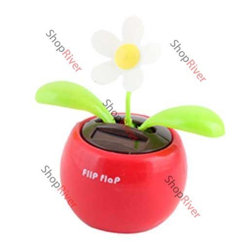 ShopNow Solar Powered Flip Flap Flower Cool Car Dancing Toys(China (Mainland))