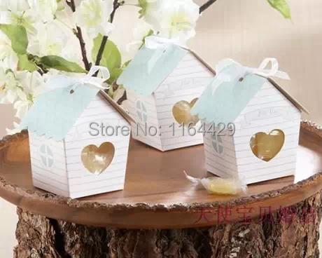Chegada 30 PCS mini casa favor caixas de doces de casamento caixa de doces caixa de presente frete grátis(China (Mainland))