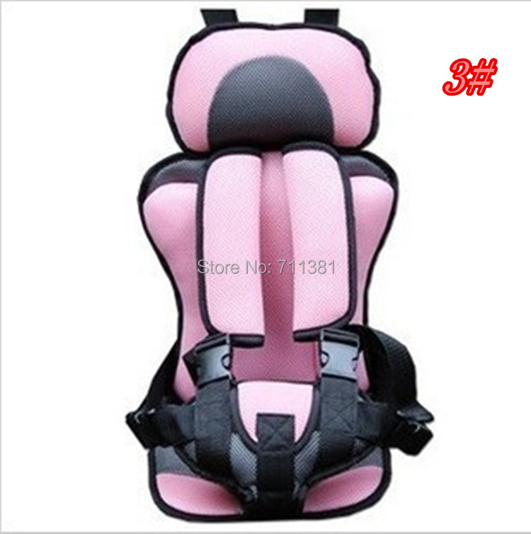 Hot Sale! 5Colors Portable Baby/Child Car Safety Booster Seat Cover Harness Cushion FreeShipping(China (Mainland))