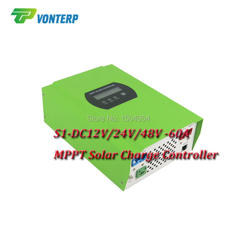 MPPT 60A LCD Solar Charge controller 12V 24V 48v auto switch MPPT 60A Solar charge controller MPPT 60A charger controller(China (Mainland))