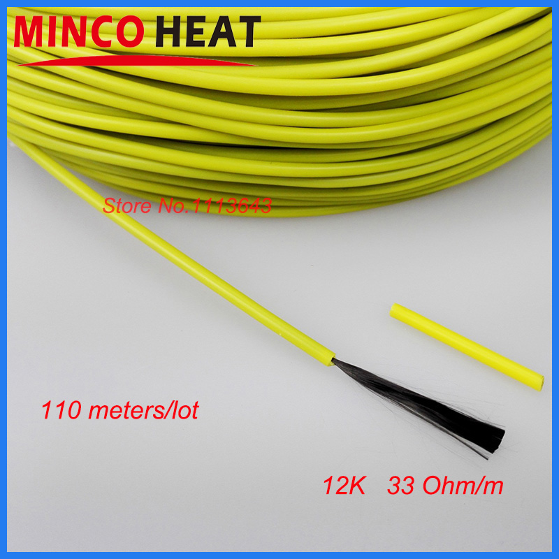 Electric Floor Heating Cable : M infrared floor heating carbon fiber underfloor