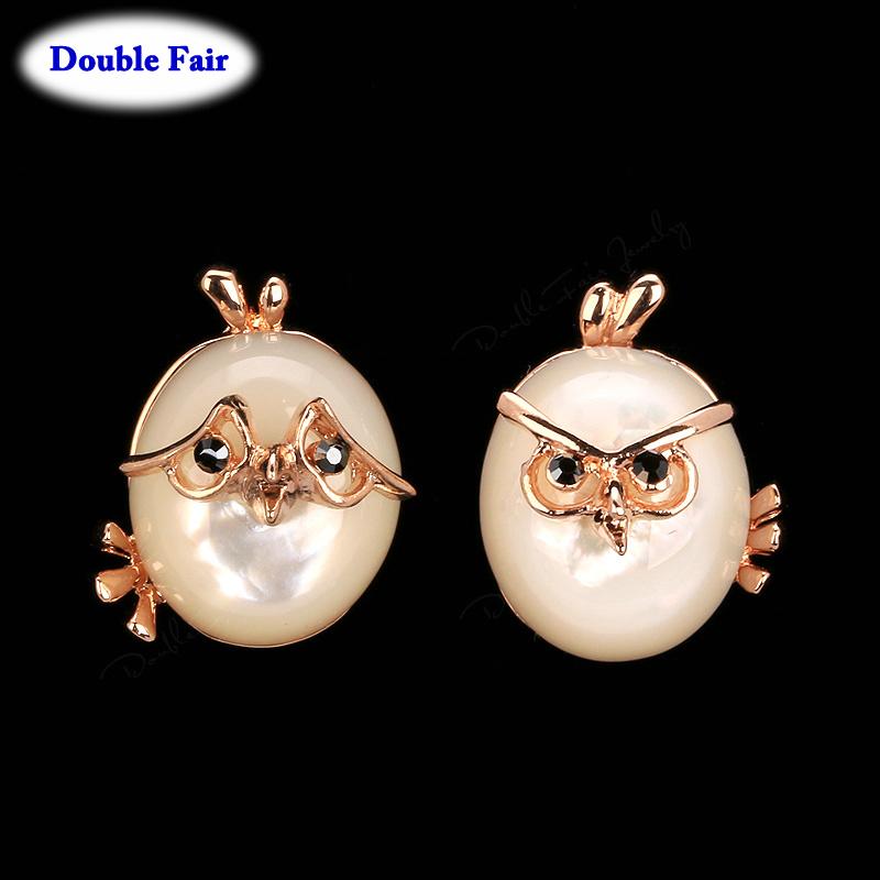 Animal Shape Opal Stone Vintage Stud Earrings For Women 18K Rose Gold Plated Imitation Gemstone Wedding Jewelry DWE483()