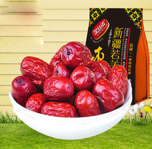 Free shipping Xinjiang red date high quality Chinese red Jujube Premium red date Dried fruit Green