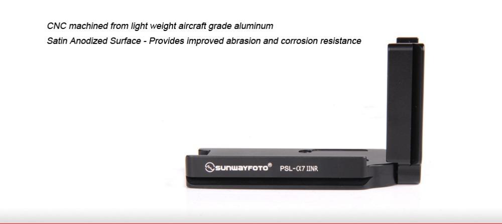 Здесь можно купить  Free Shipping SUNWAYFOTO PSL-a7IINR Custom L Bracket L Plate for SONY a7II Arca Swiss RRS Compatible   Бытовая электроника