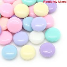 "Buy DoreenBeads Acrylic Spacer Beads Flat Round Mixed 12.0mm (4/8"") x 5.0mm (2/8""), Hole: Approx 1.0mm, 45 PCs 2015 new for $1.17 in AliExpress store"