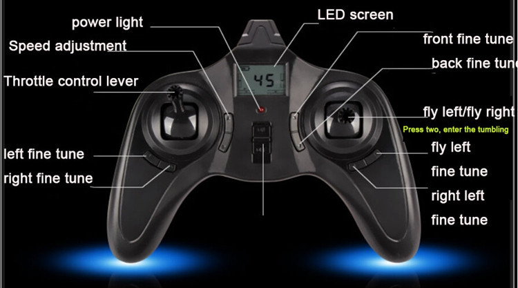 2.4GHz 4Channel Rc Plane LCD Screen Model Airplane LED Light Toys Control Remote Drone 100Meters Quadrocopter Mini Black White (16)