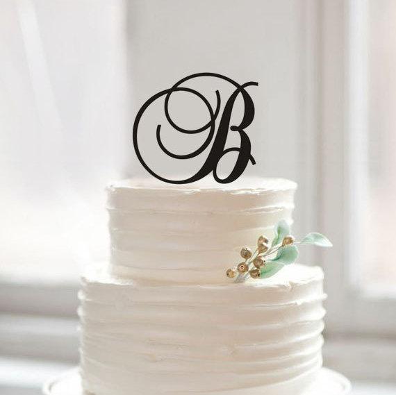 Cheap Monogram Cake Topper Wish