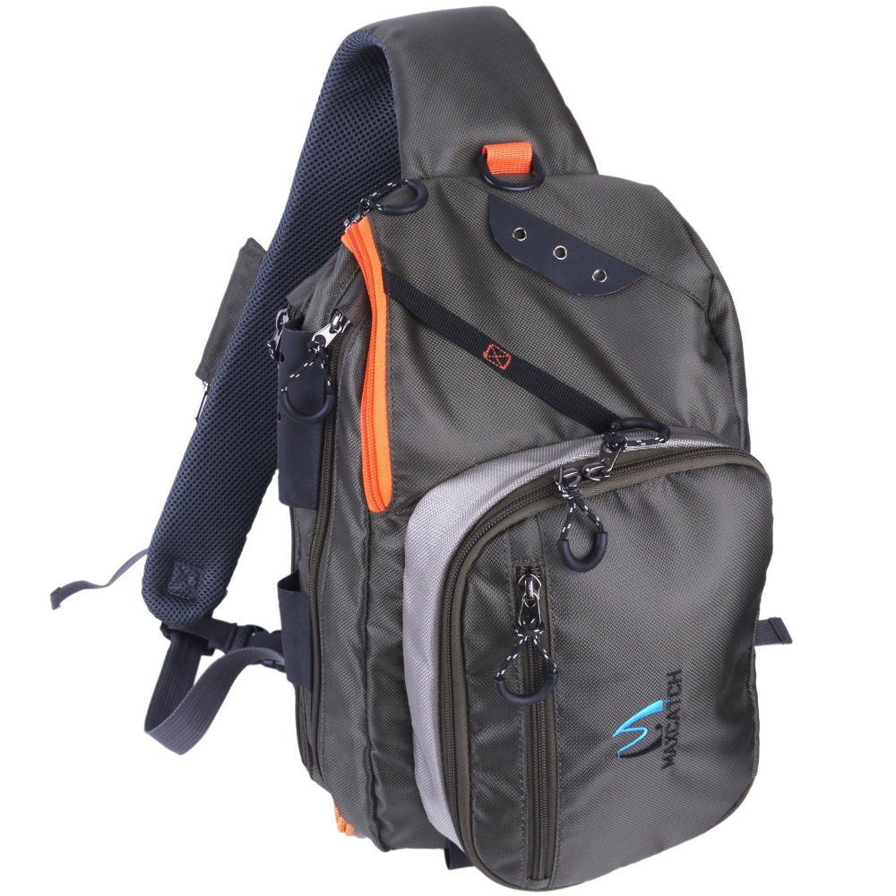 Maximumcatch Fly Fishing FCO Sling Back Pack Outdoorsport Fishing Sling Bag With Fly Patch(China (Mainland))