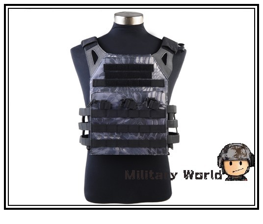 Фотография Military Combat Gear Outdoor 1000D JPC Tactical Vest Simplified Version with Two Plates for Paintball Hunting Camping Typhon