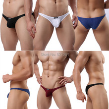 4pcs/lot HOT Brand WOWHOMME Men's Ribbing Sexy Edging Small Bikini Briefs Underwear Size M L XL WH34 Size M -XL*4Colors(China (Mainland))