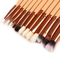 Professional 12Pac Pink Black Rose Gold Makeup Brush Set Eye Shadow Lip Liner Brush Beauty Tool
