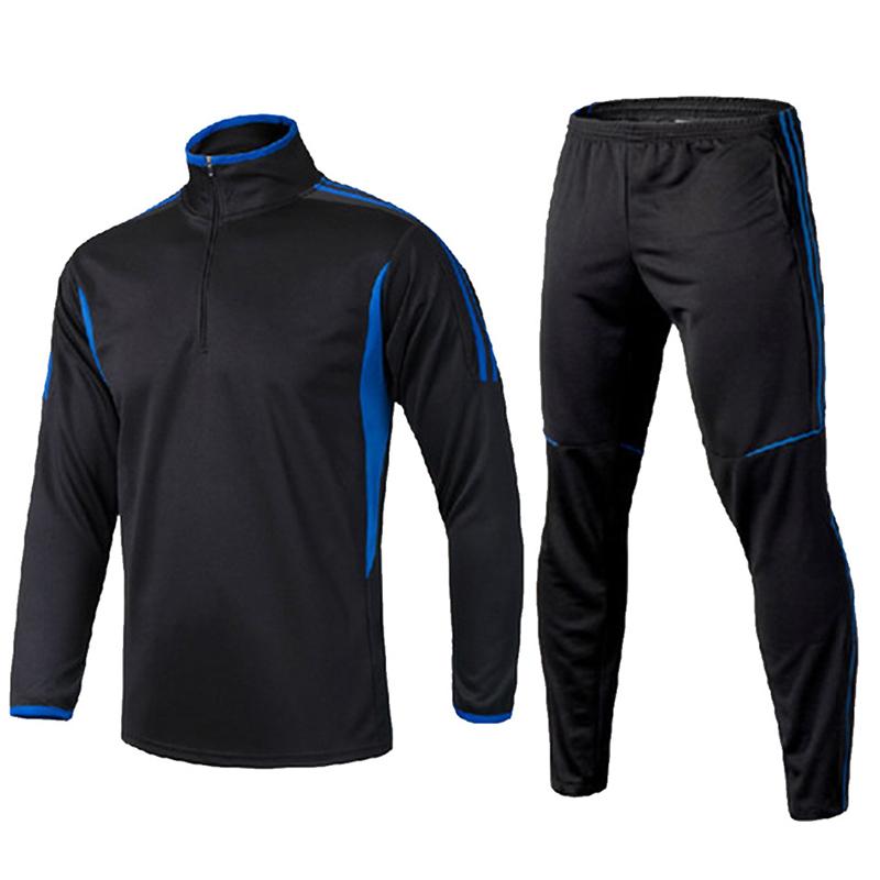 EU Boys Football Uniforms Soccer Sets Kids Training Suits Soccer Jerseys Winter Long Jacket Pants Tracksuit for maillot de foot(China (Mainland))