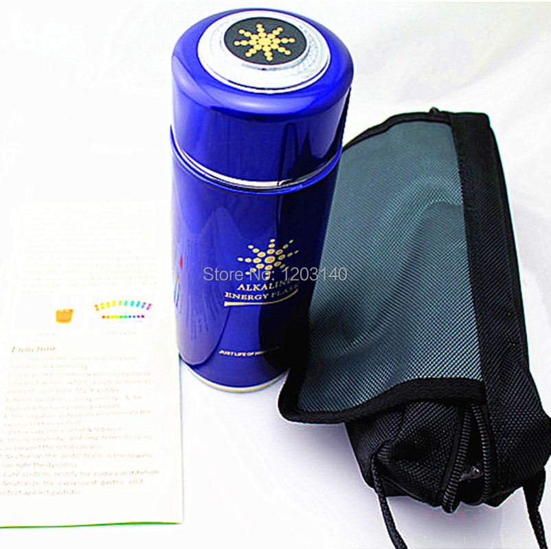 Hot! Alkaline Water Cup Energy Nano Flask Cups Water Bottle Water Alkaline Enhancer Ionizer Alkaline Flask Energy Drinkware(China (Mainland))