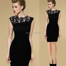 Summer dress Sexy Womens Stretch Evening Party Casual Slim Lace Pencil Dresses Crochet Elegant dress High Quality(China (Mainland))