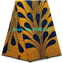 2016 High Quality African prints fabric veritable dutch wax real hollandais wax Nigerian style 6 yards/pcs 100% cotton!KL1-36(China (Mainland))