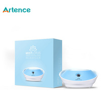 New Hot Lotus USB Ultrasonic Air Humidifier For Home Office LED Night Light Aroma Mist Maker Suit For Any Bottle(China (Mainland))