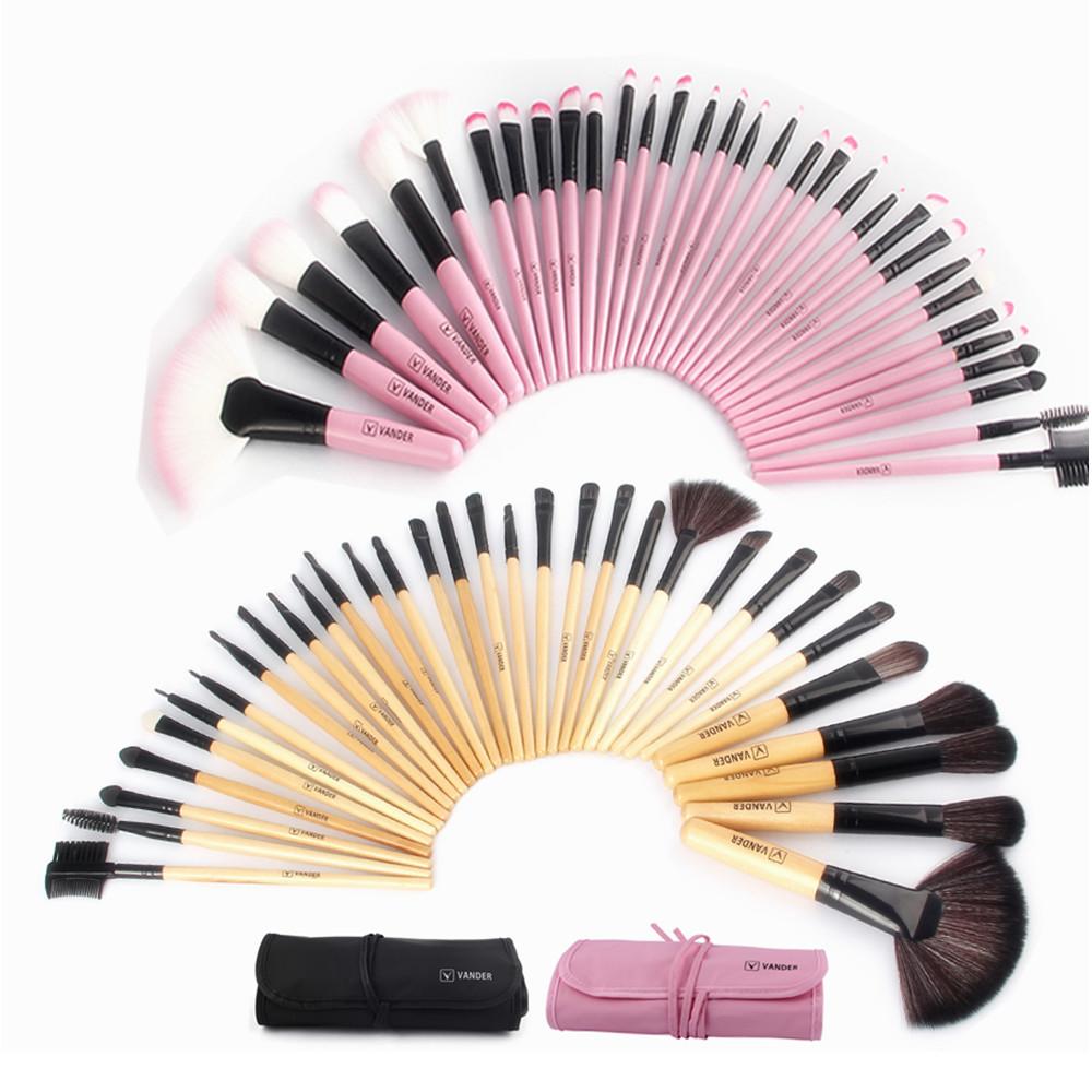 Woman's Pro 32 Pcs Make Up Tools Pincel Maquiagem Lipstick Foundation Cream Cosmetic Beauty Makeup Brushes Set Kit + Pouch Bag(China (Mainland))
