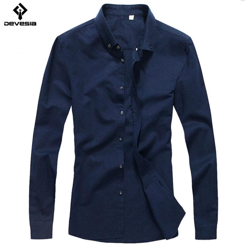 Men shirt 2016 new men 39 s fashion summer autumn long sleeve for Navy blue color shirt