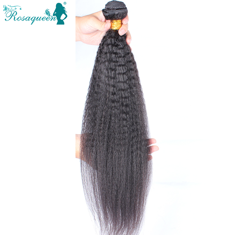 Mongolian Virgin Hair Straight Corase Yaki 1 Piece Human Hair Weaves Italian Yaki 10