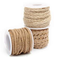 Natural Hessian Jute Twine Burlap Ribbon Rope