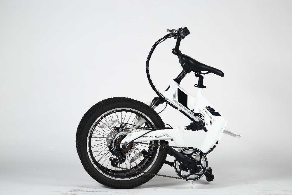 2O inch folding electric bicycle with 250w brushless hub motor