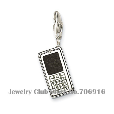 Mobile phone Charm with lobster clasp electronique telephone pendant fit Thomas Style bracelet Factory price Wholesale Jewelry(China (Mainland))