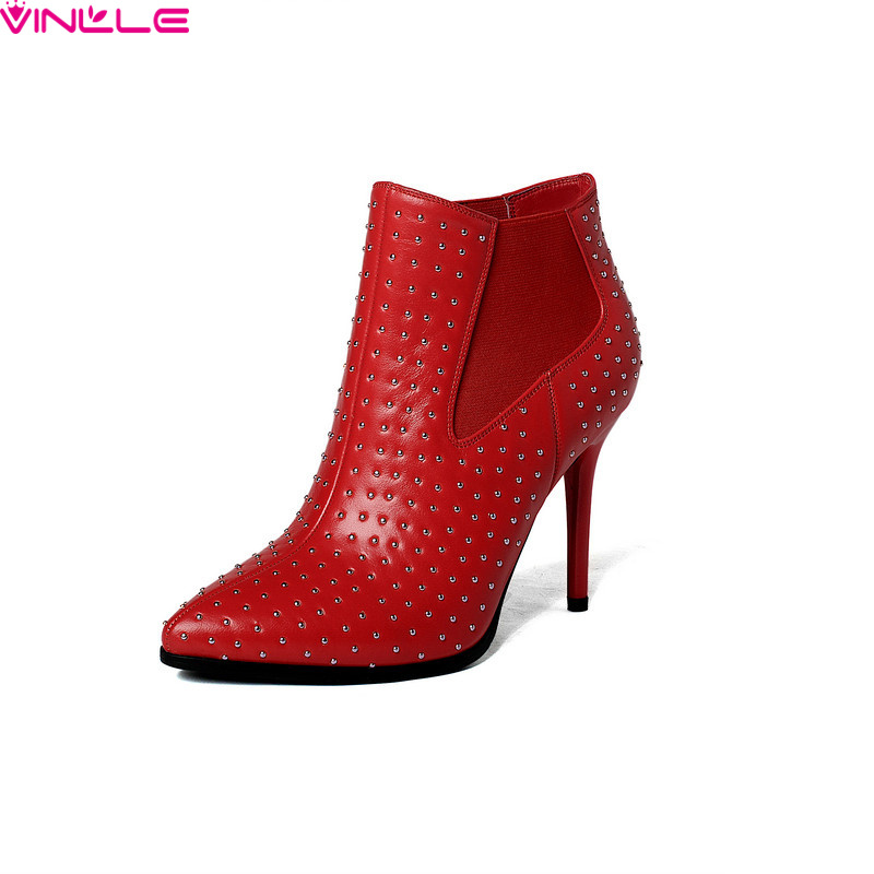 VINLLE 2015 New Winter Boots Woman Ankle Shoes Fashion Women Martin Boots thin high Heel Platform Zipper shoes size 34-39<br><br>Aliexpress