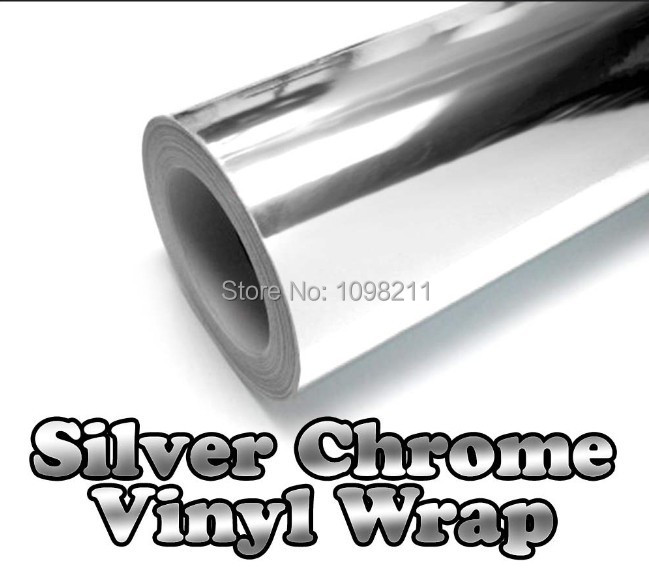 "300mm x 1520mm Chrome Air Free Mirror Vinyl Wrap Film Sticker Sheet Decal 12""x60"" Emblem Car Styling Bike Motor Body Protect(China (Mainland))"