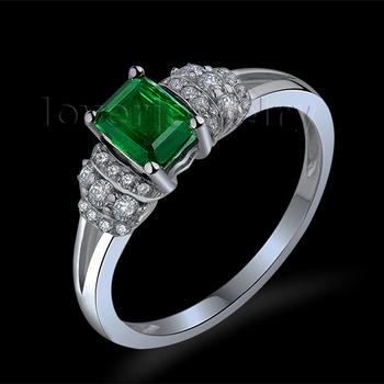aliexpress buy elegance emerald ring solid 18kt